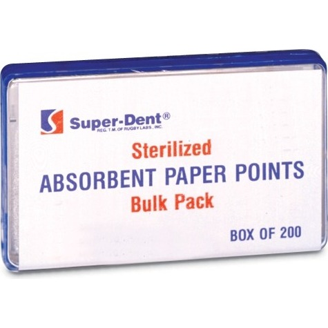9533510 Absorbent Paper Points X-Coarse, 200/Box