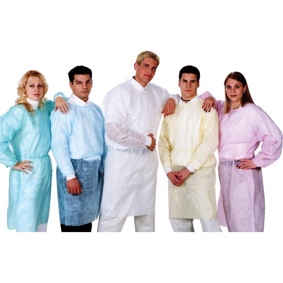 9508183 Isolation Gowns Knit Cuffs, Blue, 50/Pkg, 3260B
