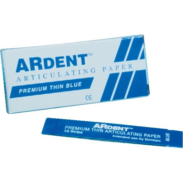 "9900064 Ardent Articulating Paper Standard Waxed, Red, .0025"", 144/Box, 60005"