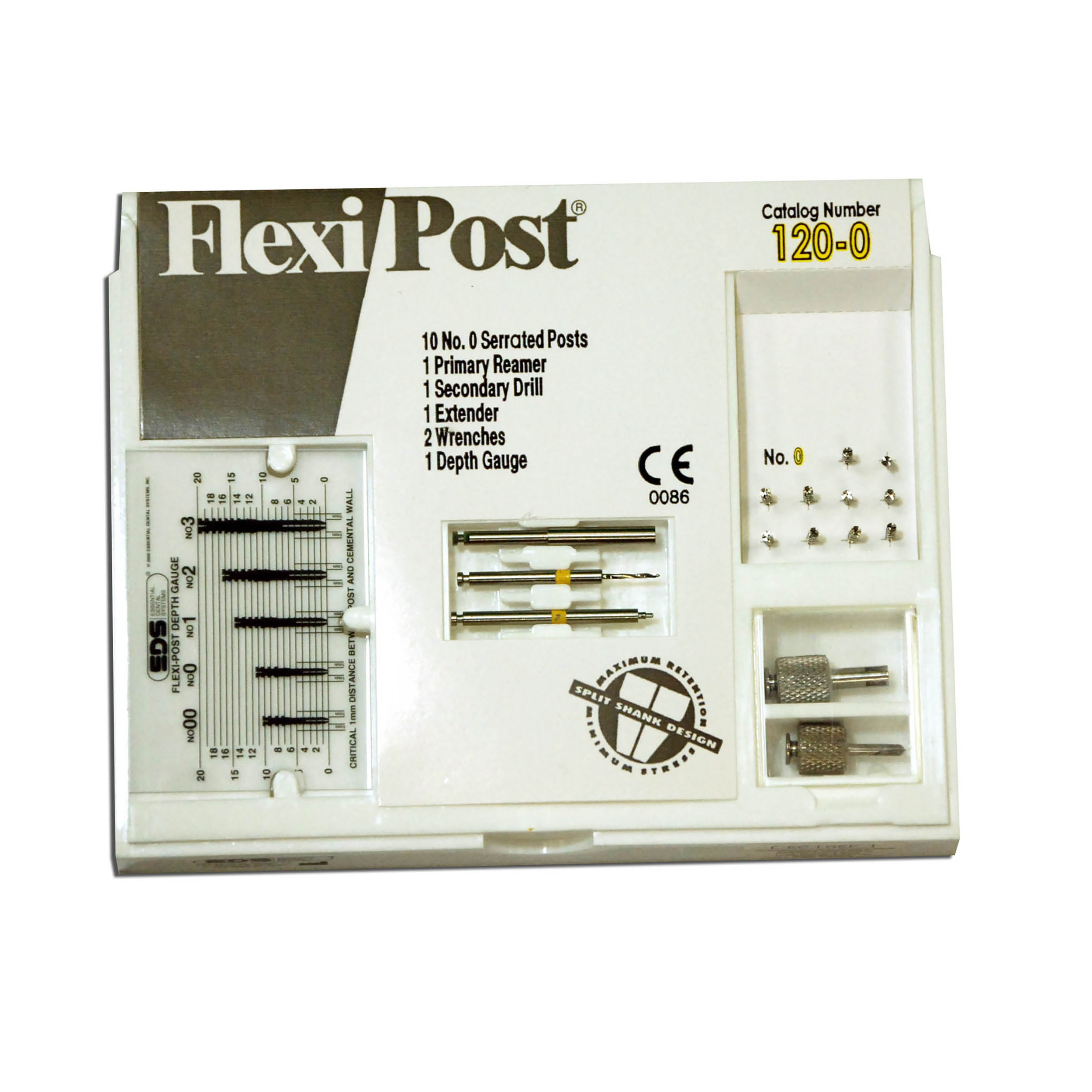 9530506 Flexi-Posts Standard Kits Stainless Steel, Size 0, Yellow, 10/Pkg., 120-0
