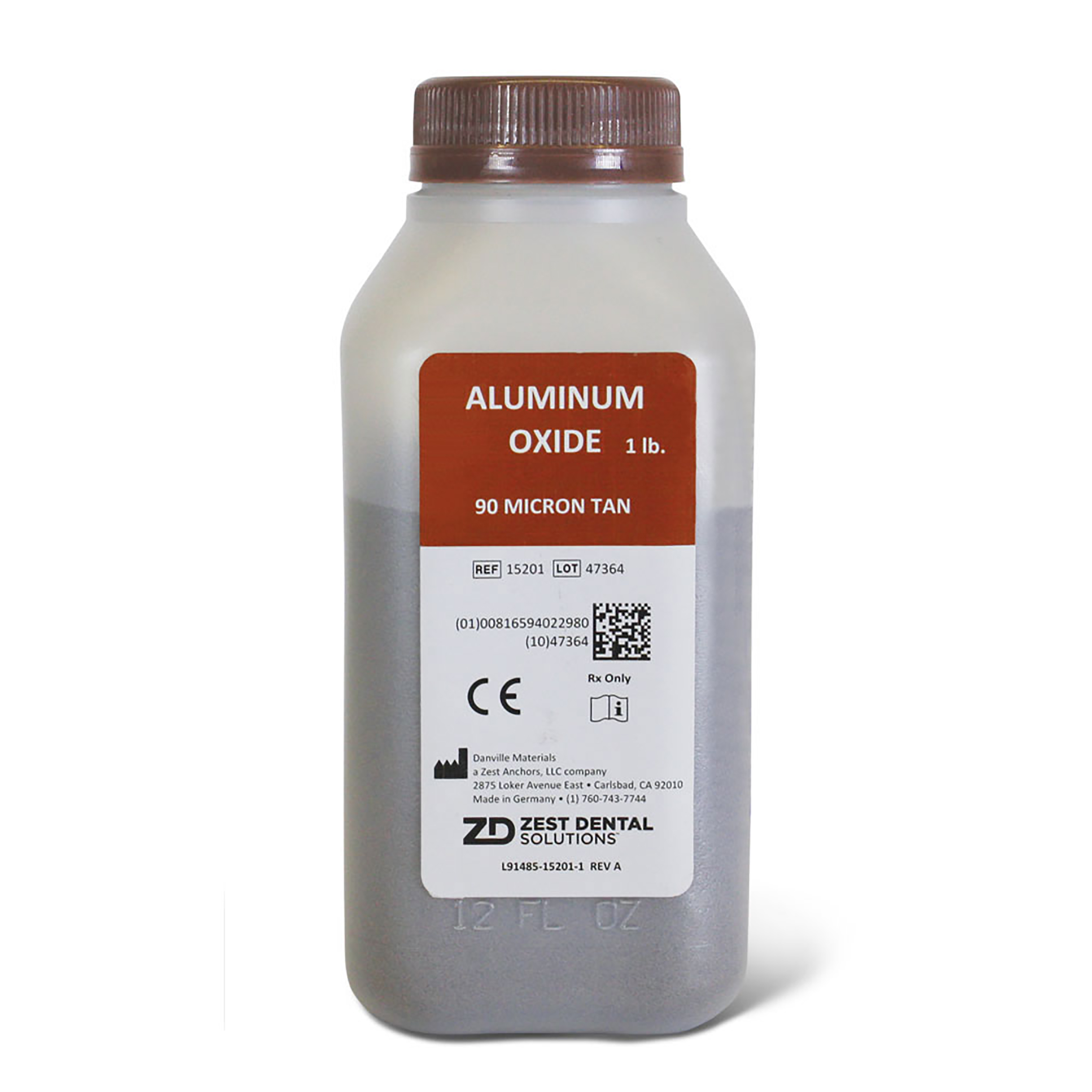 0926117 TruEtch Aluminum Oxide 90 Micron, Tan, 1 lb.