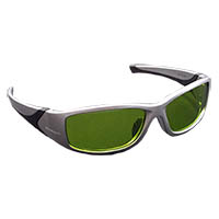 9200500 Pro-Opto Wrap-Around Laser Eyewear Silver & Black Frame, 3588DA