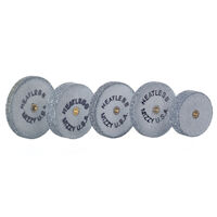 9522500 Mizzy Heatless Wheels #8, Gray, 50/Pkg., 6130800