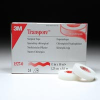 "3249800 Transpore Surgical Tape 1/2"" x 10 yds., 24 Rolls, 1527-0"