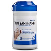 "3183010 Sani-Hands Sani-Hand Wipes, 6"" x 7.5"", 135/Canister, SAND"