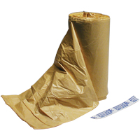 "3763010 Plastic Refuse Liners Buff, Poly Plastic, 5 Mil, 15"" x 9"" x 32"", 500/Case, 15932BU"