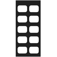 8854110 EZ-Tab Gray Plastic Series OP-H for #0 film, 100/Pkg., 30-0123