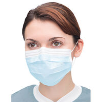 9508110 Extra-Safe Sensitive Earloop Masks Sky Blue, 50/Box, 5430E-SB