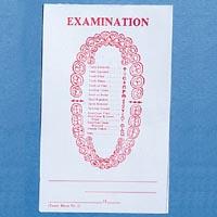 "9518710 Imprinted Exam Pads #2 Pad, 3 1/2"" x 5 1/2"""