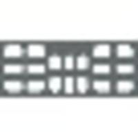 9333120 EZ-Tab Gray Plastic Series 8H,#2 6V, #1 4BW #2, 100/Pkg., 30-6182