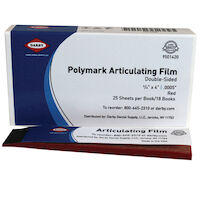 9501420 Polymark Articulating Film Red, 13 microns, 450/Strips