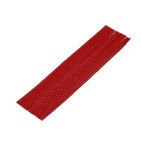 "9522420 Utility Wax 3/16"", Round Strips, Red, 75/Box"