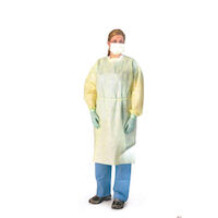 3414720 Isolation Gowns Universal Size, Yellow, 50/Pkg, 38-05