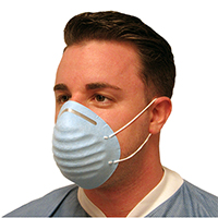 9532030 Cone Molded Earloop Face Mask Blue, 50/Box