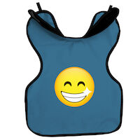 9200040 Cling Shield Child Aprons Protectall Apron w/Neck Collar, Slate Blue, 27SMILEY