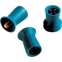 8242150 Densco Prophy Cups Screw Shank, Soft Blue Rubber w/ skirt,, 144/Box, 85132