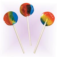 3313150 Sugar Free Lollipops Round, Rainbow, 170/Pkg.