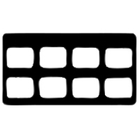 9084060 Cardboard X-Ray Mounts 8H  #2, 100/Pkg., 8H