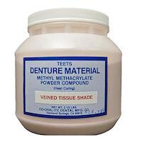 9538360 Teets Denture Powder and Liquid Heat Cure Powder, Vein Tissue, 2.5 lb., 2102