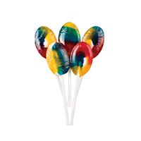3310660 Sugar Free Lollipops Oval, Rainbow Fruity, 100/Pkg.