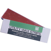 "8442170 Utility Wax Square Ropes, White, 11"", 44/Pkg., H00820"