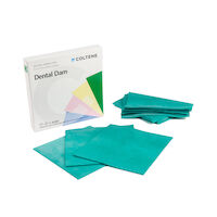 "8440670 Hygenic Dental Dam 5"" x 5"", Thin, Green, 52/Box, H02141"