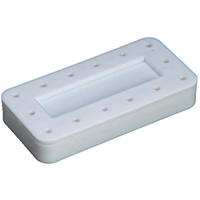 9515770 14-Hole Magnetic Bur Block White, Magnetic, 14-Hole, 400BR-1