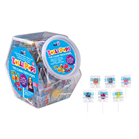3310870 Zolli Candy JV522 Zolli Pops, 125/Canister, 15 Canisters/Case, 3124