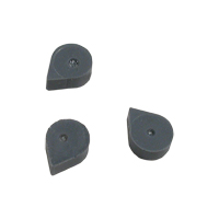9022970 Silicone Rubber Stops Grey, 100/Pkg., 017-25505