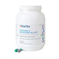 9526970 D-Phase II Amalgam Alloy Regular Set, One Spill, 400mg, Green/Gray, 500/Pkg