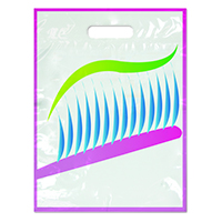 "3310080 Specialty Bags 250 Count Neon Toothbrush, 9"" x 13"", 250/Pkg."