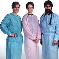 9508180 Isolation Gowns Elastic Cuffs, Blue, 50/Pkg, 3230B