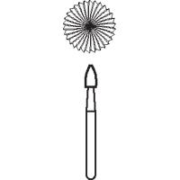 8642680 Midwest Esthetic Finish Carbide FG 2/Pkg. Egg, 9406B, 1.8, 30 Blade, 2/Pkg., 378124