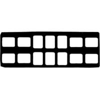 9084090 Cardboard X-Ray Mounts 8H  #0, 6V  #0, 100/Pkg., 14-6VO