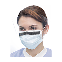 9508090 Ultra 3-in-1 Sensitive Masks with Visor Blue, w/Splash Visor, 25/Box, 5673S-SB