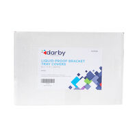 "9539990 Liquid-Proof Bracket Tray Covers 8 1/2"" x 11"", White, 500/Box"