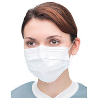 9508101 Extra-Safe Sensitive Earloop Masks White, 50/Box, 5430E-WH