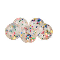 3314111 Super Balls 32 mm, Stars, Red, White, Blue, 100/Pkg.