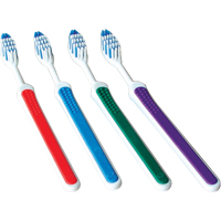 9521611 Adult Multi-Tuft Toothbrush Angled Soft, T-Grip, 72/Pkg.