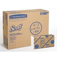 3430121 Scott Surpass Towels Scottfold M, 175/Pkg, 25 Pkg/Case, 01980