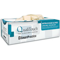 3051121 QualiTouch Nitrile PF Gloves Small, Natural, 100/Box, 41512