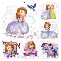 3310821 Disney Stickers Sofia, 100/Roll, PS581
