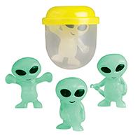 "3310331 Toy Capsules 1"", Glow-in-the-Dark Aliens, 250/Pkg."