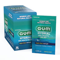 5250241 GUM Hydral Dry Mouth Relief Oral Gel, 0.08 oz., 36/Box, 1807P