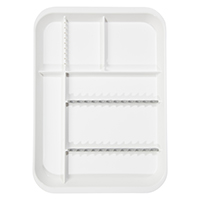 9521751 B-Lok Divided Setup Trays White, 20Z451A