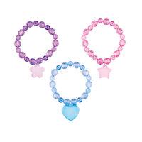 5250271 Pastel Bead Bracelets 24/Pkg.,S1564