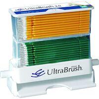 9532471 Ultrabrush 2.0 Applicators, Yellow, Green, 200/Pkg, U2R200