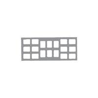 9522691 Klear-Vue Cardboard 18-6V #2, 100/Box, 25228