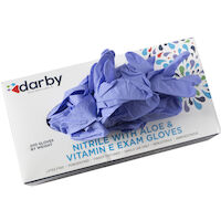 3270002 HandsOn Nitrile with Aloe and Vitamin E PF Gloves Medium, 200/Box