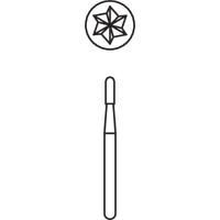 8640102 Midwest Operative Carbides FG 10/Pkg (957 - 2171) Cylinder Round End CrossCut, 1.2, 1558, 10/Pkg., 389260